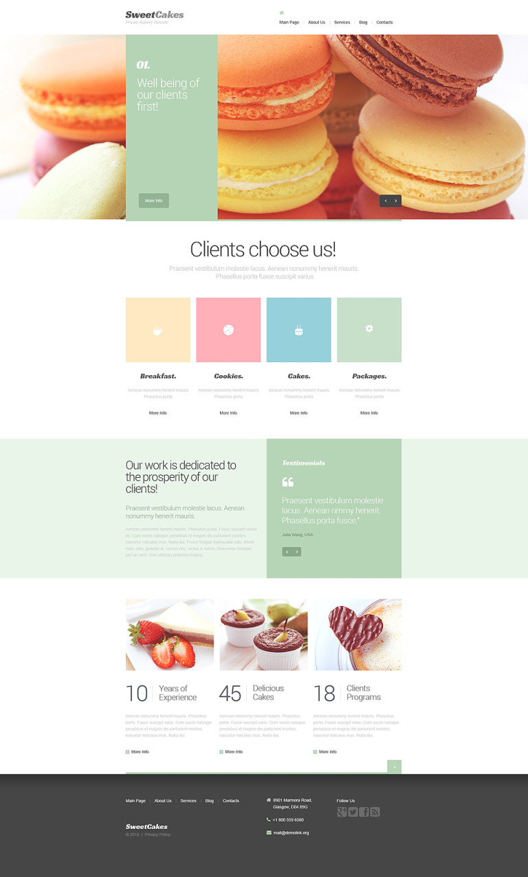 Sweet Shop Drupal Template New Screenshots BIG