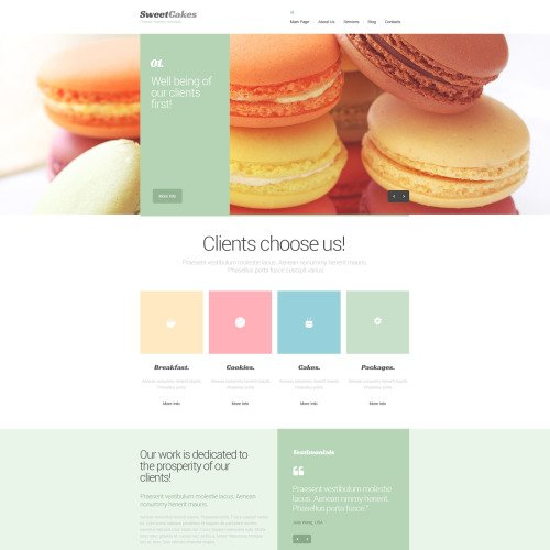 Sweet Cakes - Drupal Template