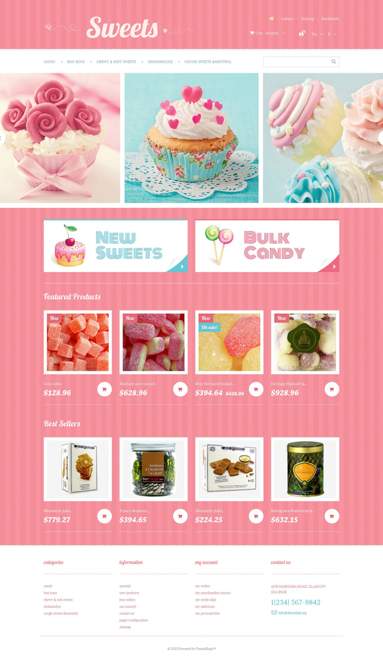 Sweets Store PrestaShop Theme New Screenshots BIG
