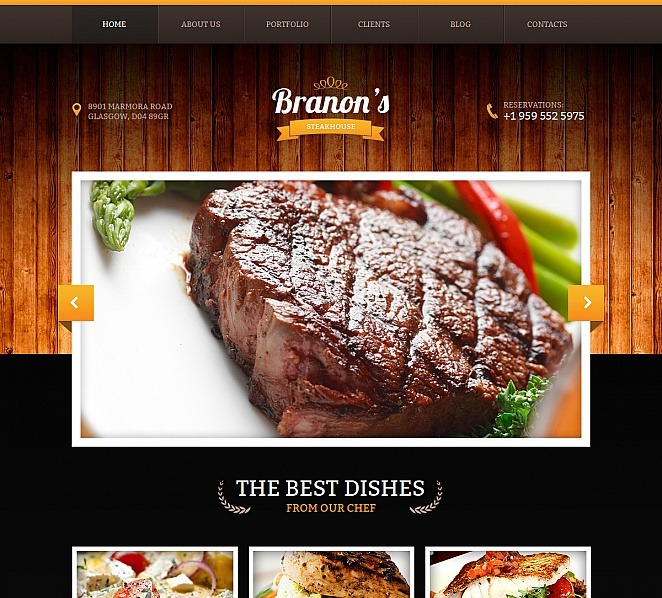 Template Moto CMS HTML para Sites de Churrasqueira №47824 New Screenshots BIG