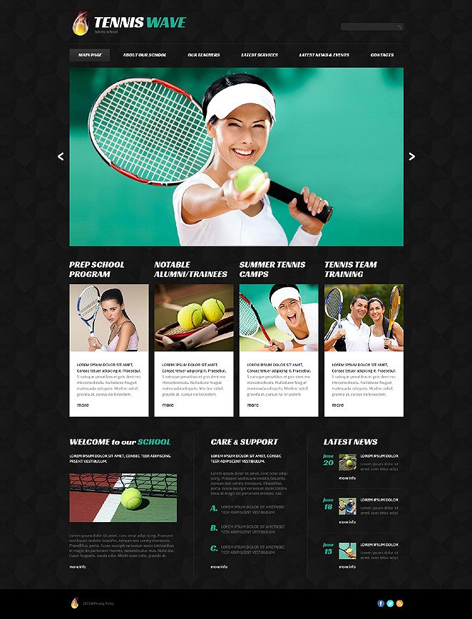 Tennis Club Joomla Template New Screenshots BIG