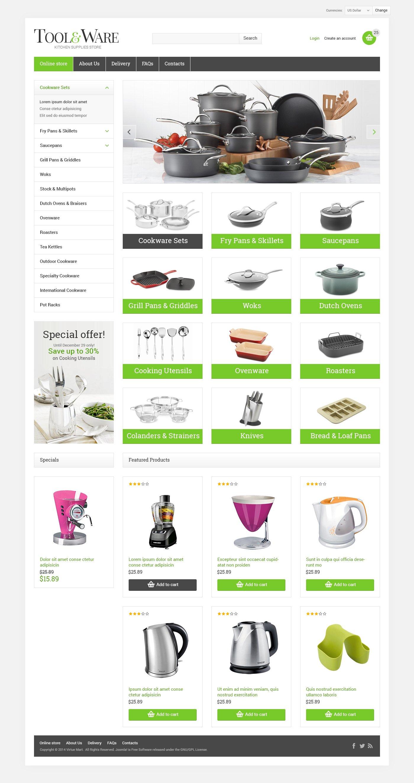 VirtueMart шаблон №47899 на тему хозяйственные принадлежности - скриншот