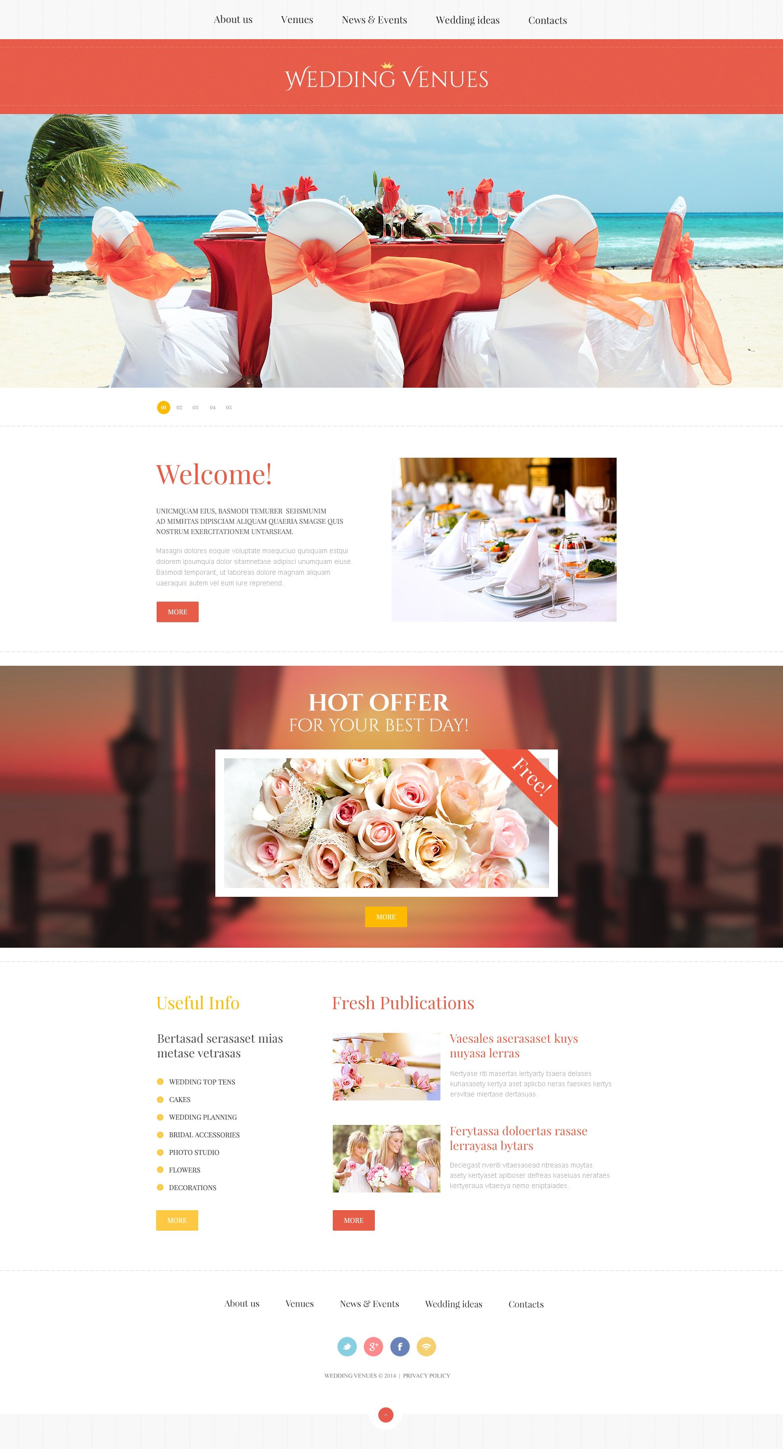 wedding planner responsive website template 47801. Black Bedroom Furniture Sets. Home Design Ideas