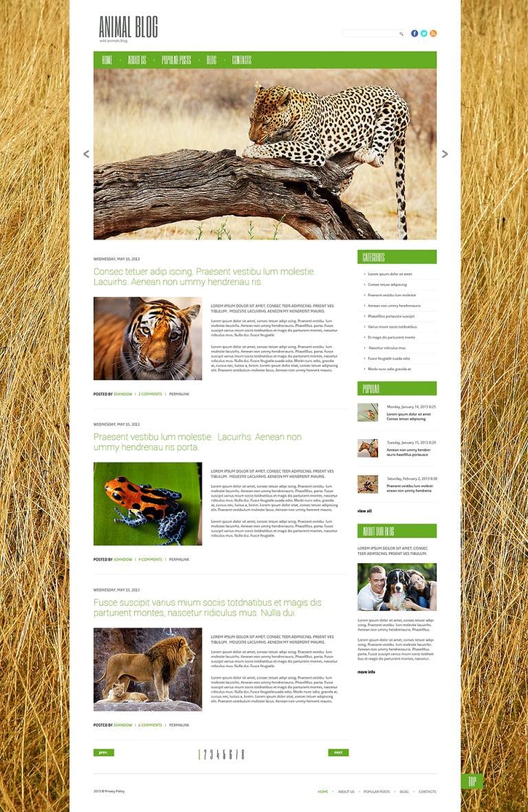 Wild Life Responsive WordPress Theme New Screenshots BIG