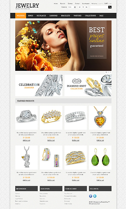 osCommerce Template 47901 Main Page Screenshot
