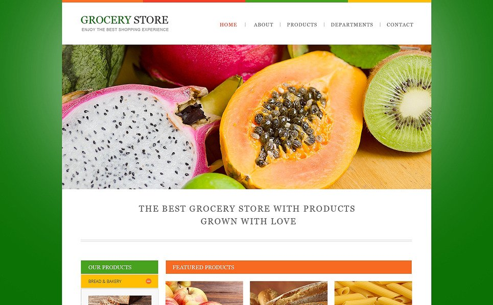 Reszponzív Élelmiszer üzletek Weboldal sablon New Screenshots BIG