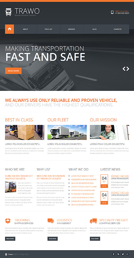 Joomla Theme/Template 47914 Main Page Screenshot
