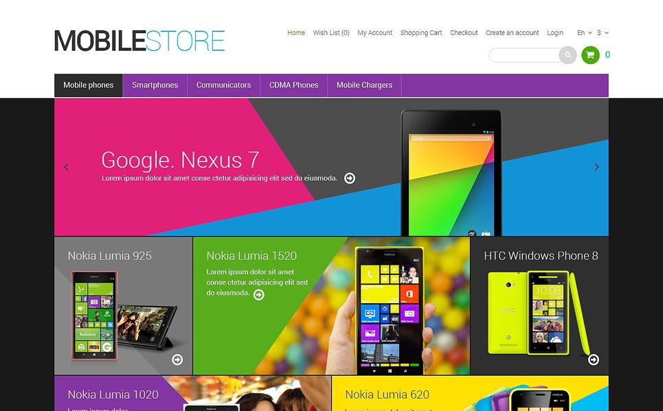 Responsive OpenCart Template over Mobiele winkel New Screenshots BIG
