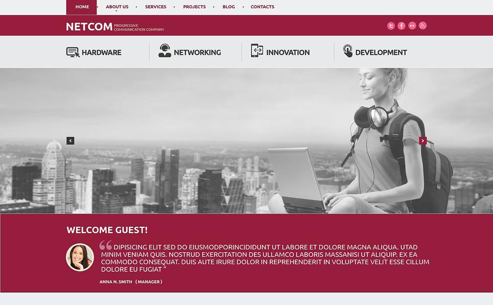 Responsives WordPress Theme für Kommunikationsbereich  New Screenshots BIG