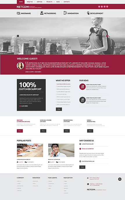 WordPress Theme/Template 47924 Main Page Screenshot