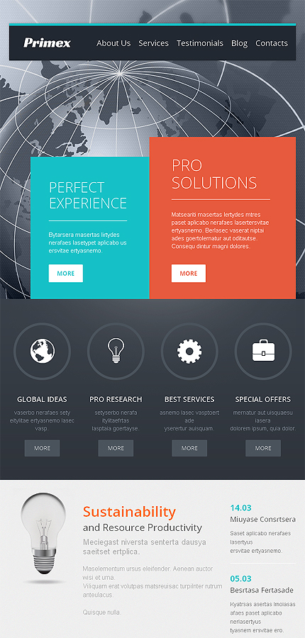 WordPress Theme/Template 47926 Main Page Screenshot