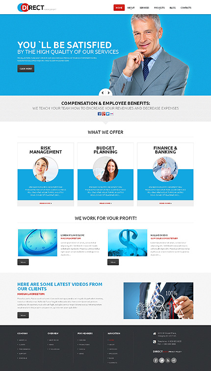 WordPress Theme/Template 47927 Main Page Screenshot