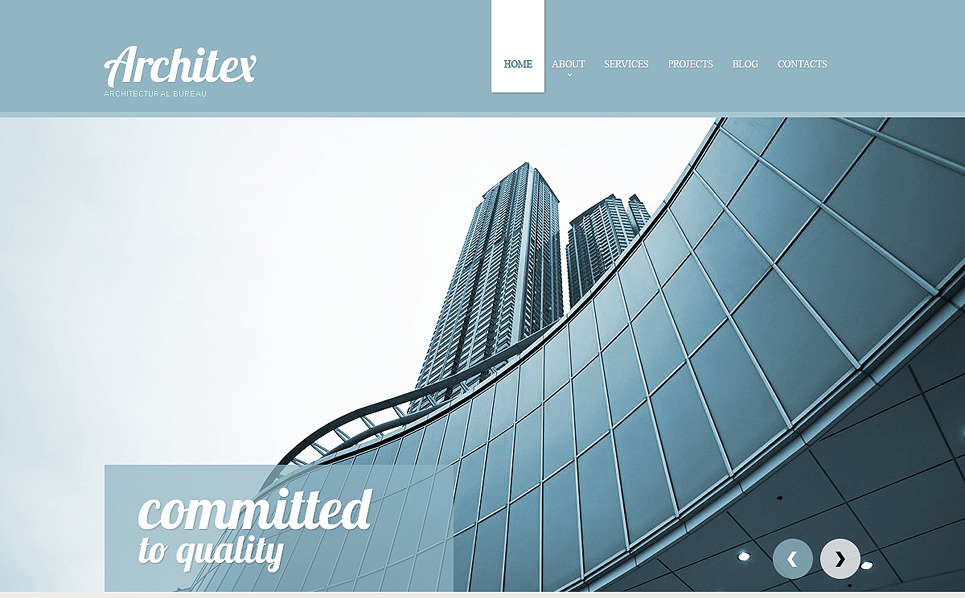 Template Web Flexível para Sites de Empresa de Construção Civil №47937 New Screenshots BIG