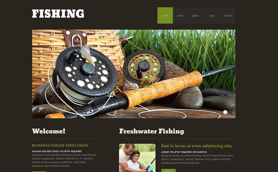 Адаптивний WordPress шаблон на тему рибалка New Screenshots BIG