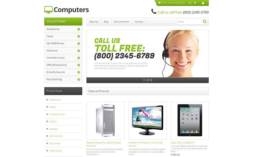 Responsywny szablon Shopify #47942 na temat: sklep komputerowy New Screenshots BIG
