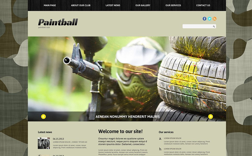 Responsive Joomla Vorlage für Paintball  New Screenshots BIG