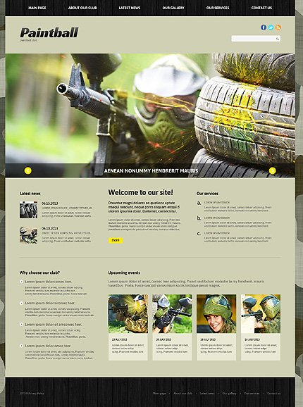 Joomla Theme/Template 47952 Main Page Screenshot