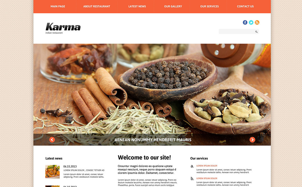 Responsive Joomla Template over Indiaas restaurant  New Screenshots BIG