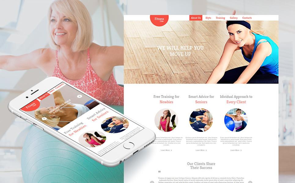 Template Moto CMS HTML para Sites de Fitness №47958 New Screenshots BIG