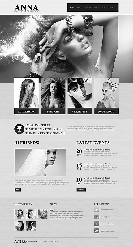 ADOBE Photoshop Template 47960 Home Page Screenshot