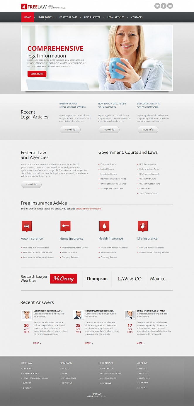 Professional Website Template for Law Firms - image