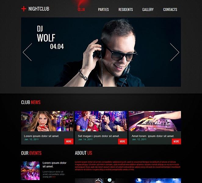 Szablon Moto CMS HTML #47973 na temat: klub nocny New Screenshots BIG