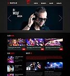 Night Club Moto CMS HTML  Template 47973