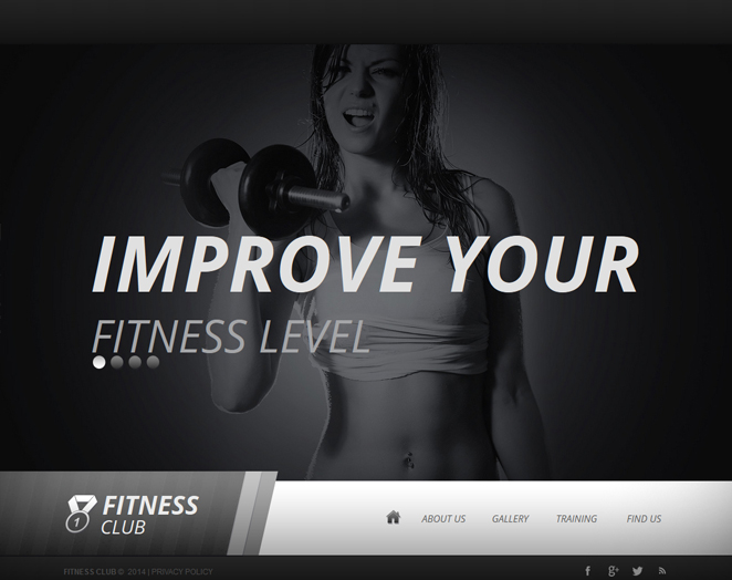 Gym Website Template Designed in Black and White - image