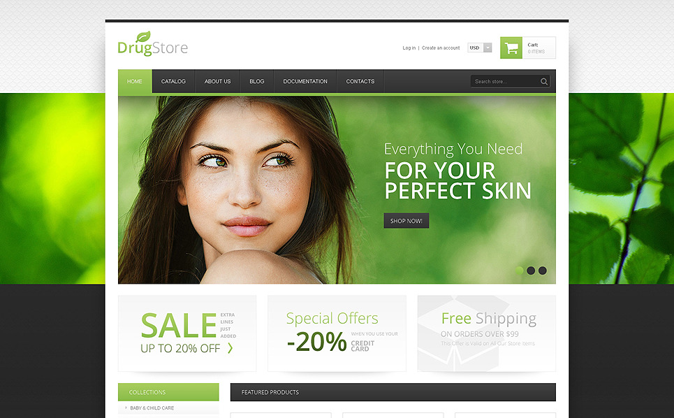 Responzivní Shopify motiv na téma Lékárna New Screenshots BIG