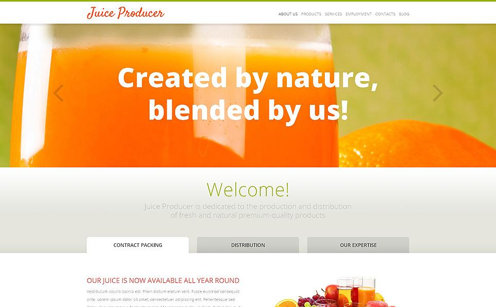 Responsive WordPress thema over Eten & Dranken New Screenshots BIG