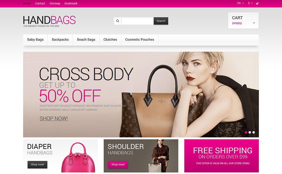 Адаптивний PrestaShop шаблон на тему сумки New Screenshots BIG