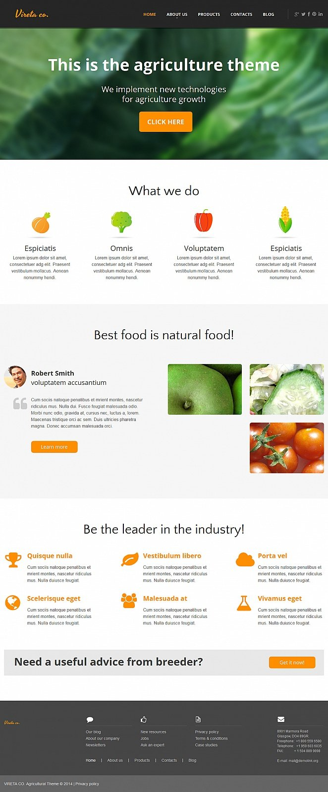 Agriculture Moto Cms Html Template 47959