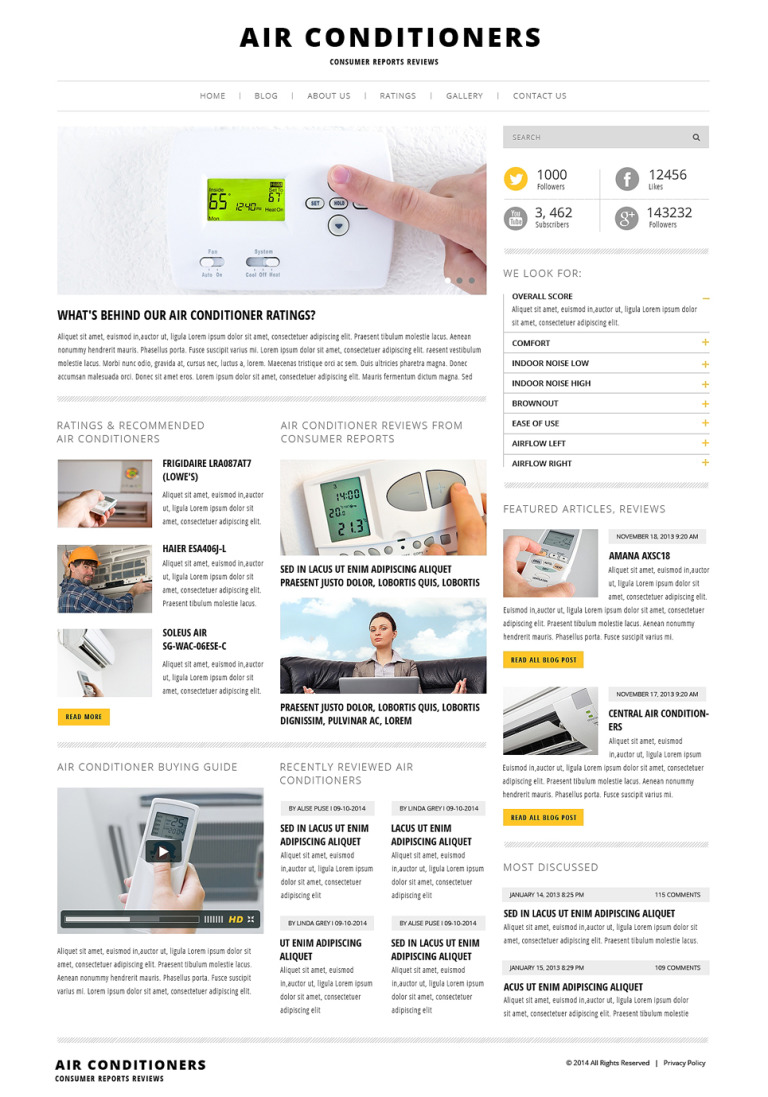 Air Conditioning WordPress Theme New Screenshots BIG