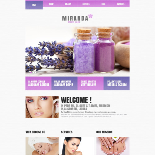 Miranda - WordPress Template based on Bootstrap