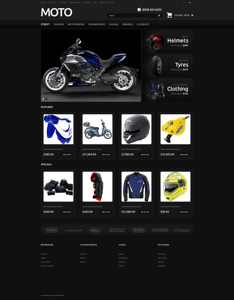 Bike Shop Responsive OpenCart Template New Screenshots BIG