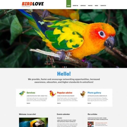 Birds Love - Joomla! Template based on Bootstrap