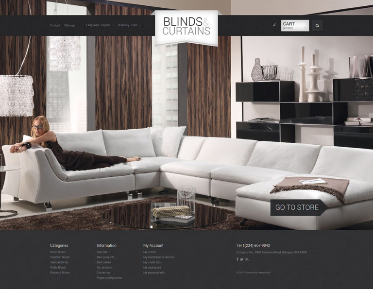 Blinds and Curtains PrestaShop Theme New Screenshots BIG