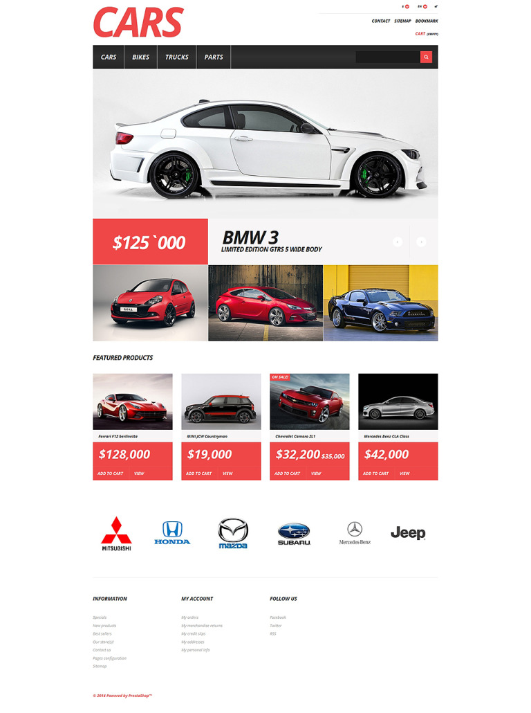 Cars Store PrestaShop Theme New Screenshots BIG