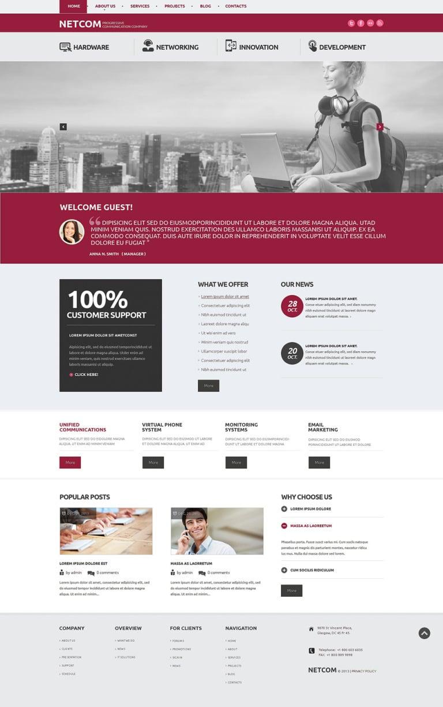Communication Company WordPress Theme New Screenshots BIG