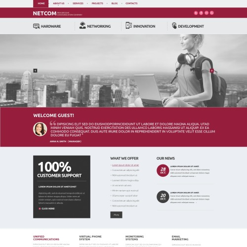 Netcom - WordPress Template based on Bootstrap