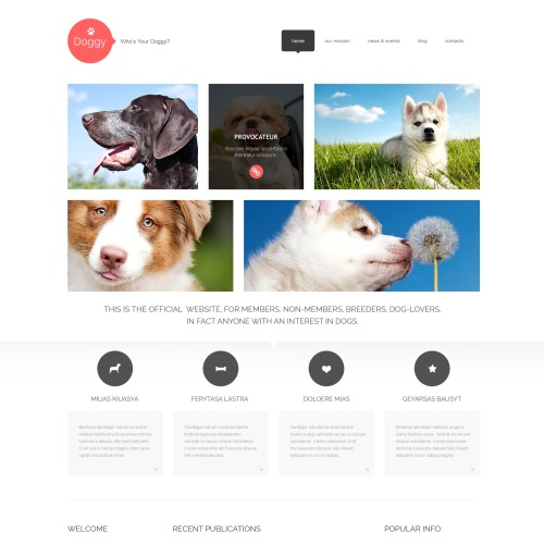 Doggy - WordPress Template based on Bootstrap