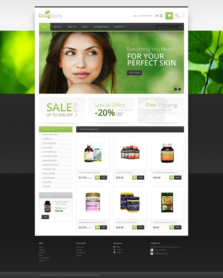Drug Store Responsive Shopify Theme New Screenshots BIG