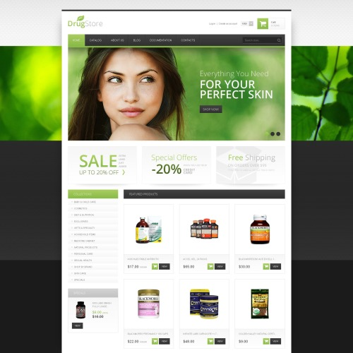 Drug Store - Shopify Template based on Bootstrap
