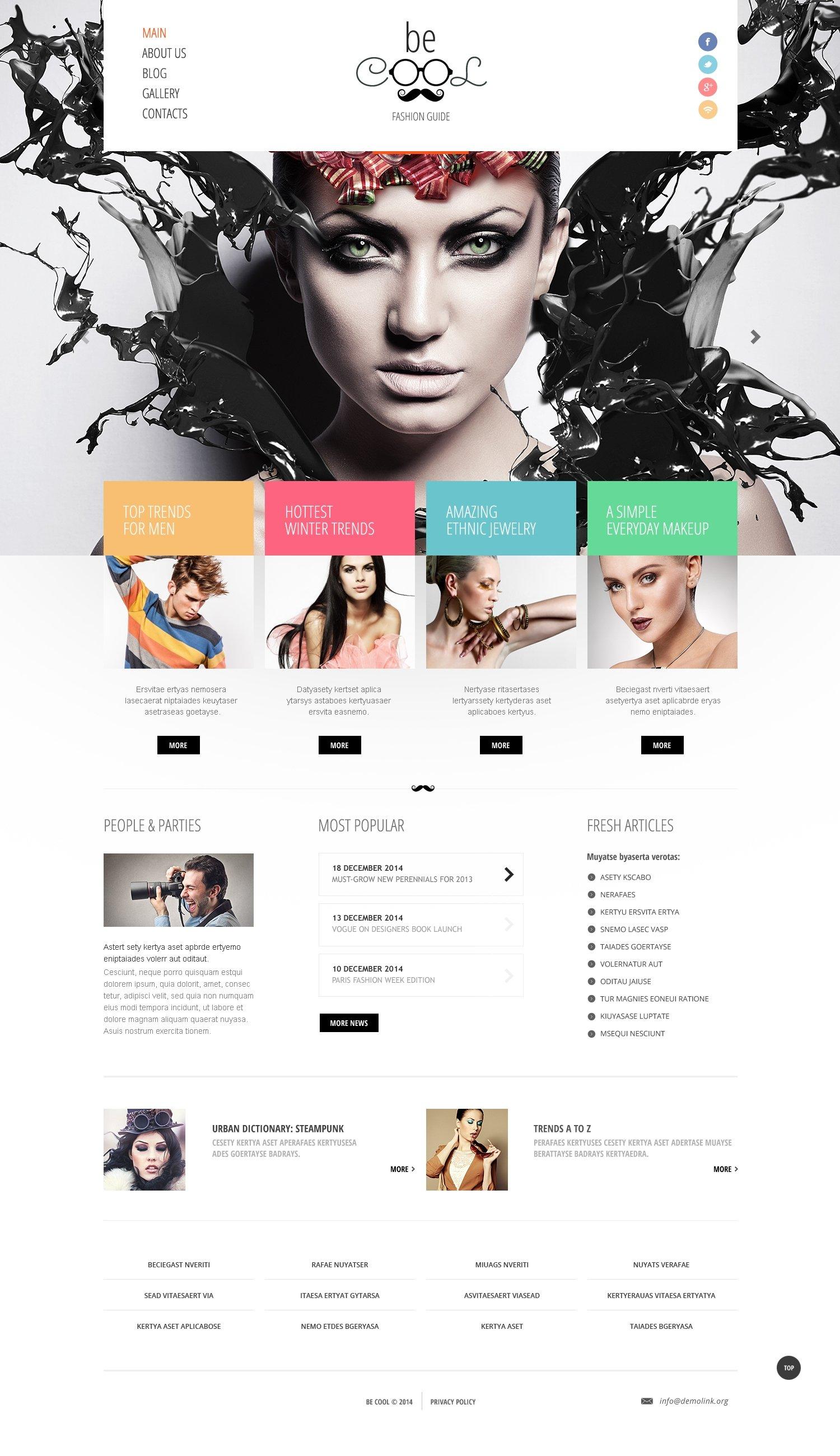 Fashion Guide Joomla Template - screenshot