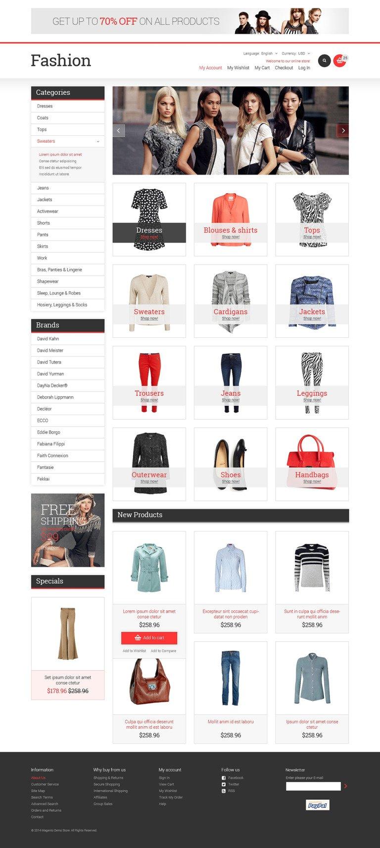 Fashion Store Responsive Magento Theme New Screenshots BIG