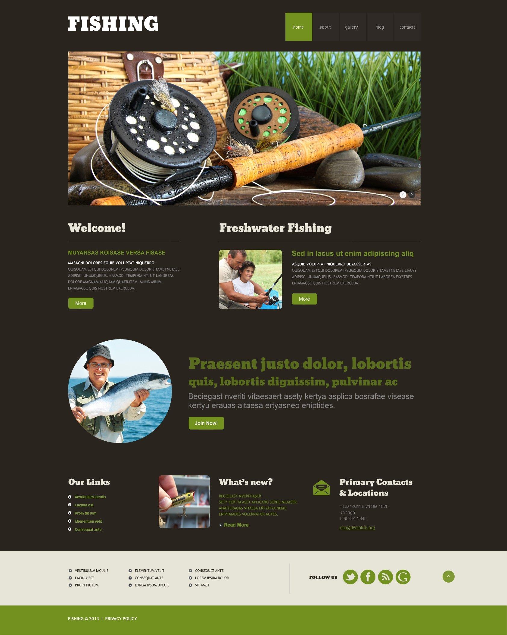 Fishing Responsive WordPress Theme - screenshot