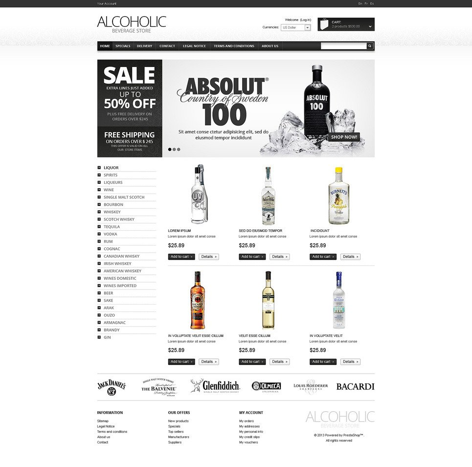 food  u0026 drink oscommerce template  47988