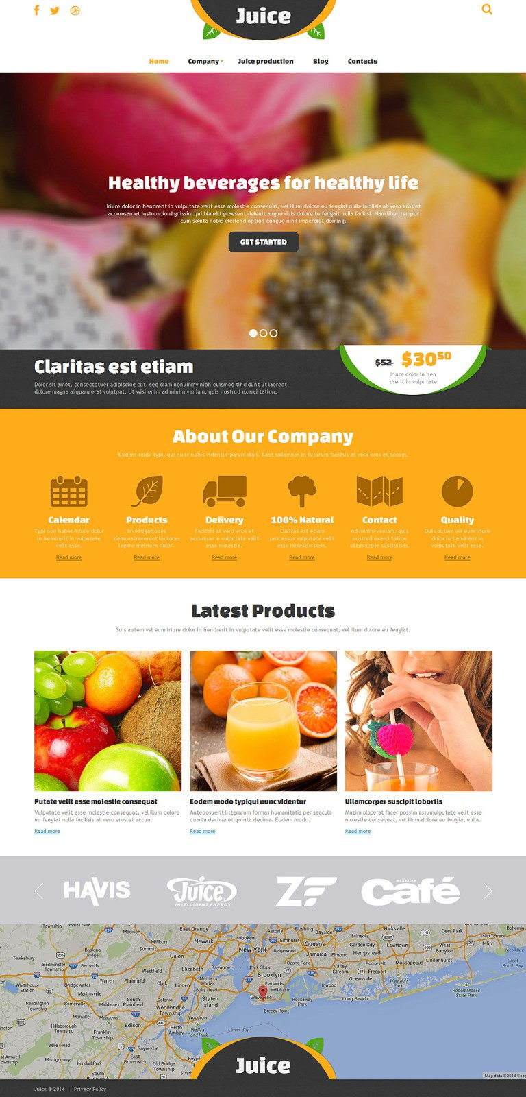 Food & Drink Responsive Joomla Template New Screenshots BIG