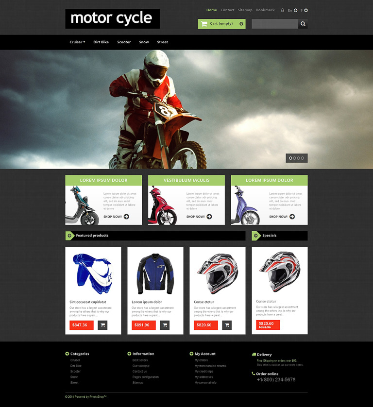 Home Gym Equipment PrestaShop Theme New Screenshots BIG