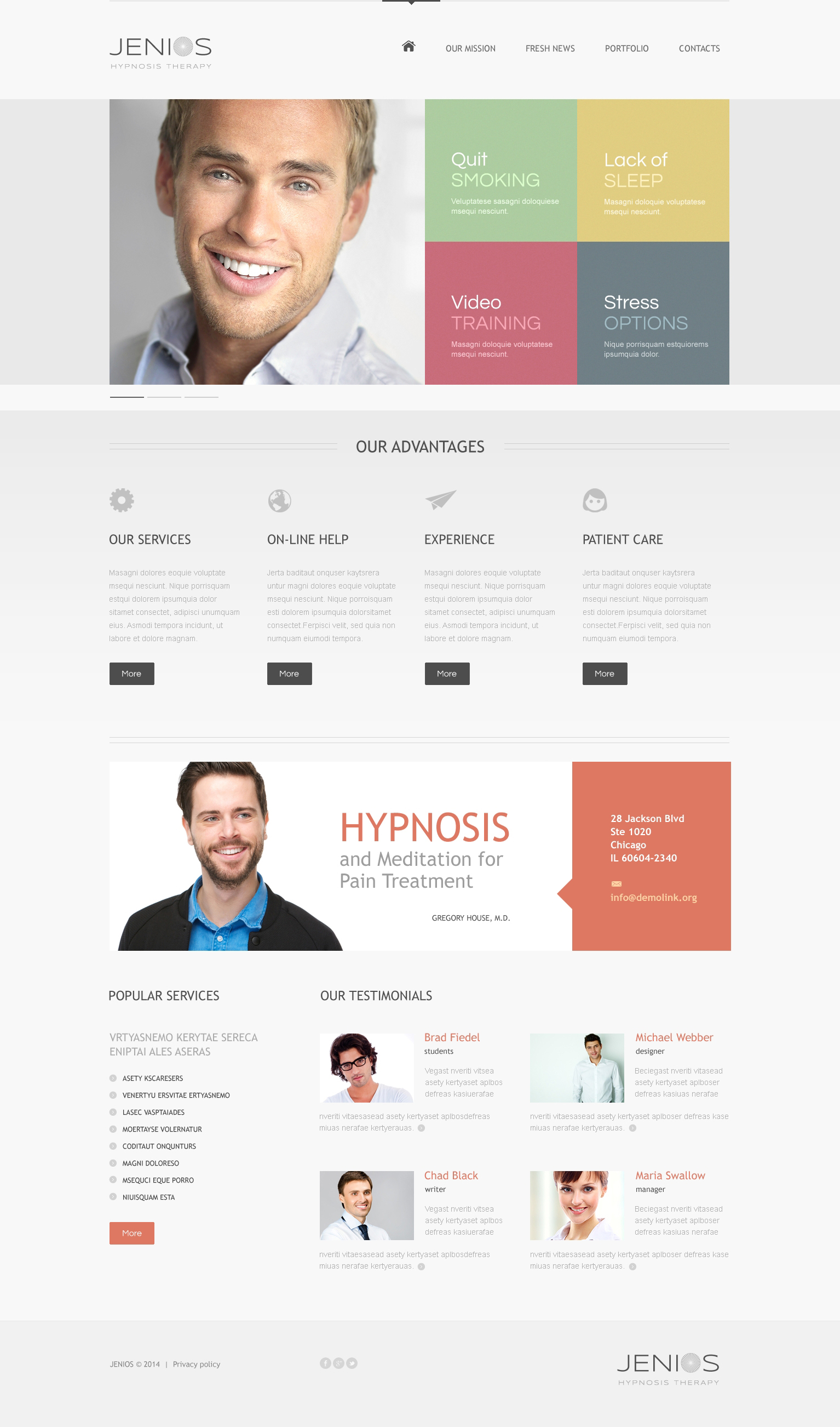"""Hypnosis"" Drupal Template №47984 - screenshot"